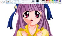 How I Draw using Mouse on Paint  - Mariko Kurama - Elfen Lied