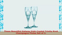 Galway Irish Crystal Trinity Knot Flutes Gift Set 7564e3ac