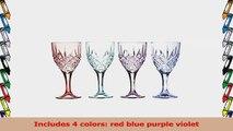 Godinger Dublin Collection Sparkling Chrystal Decorative Blush Assorted Colored Set OF 4 eaf524fa