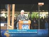 Cérémonie d'hommage aux Casques bleus nigériens: le Président Ouattara au siège de l'Onuci