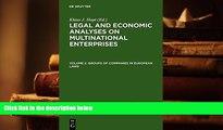 PDF [FREE] DOWNLOAD  Groups of Companies in European Laws / Les Groupes de Societes En Droit