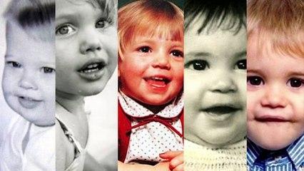 Así eran los famosos cuando eran bebés
