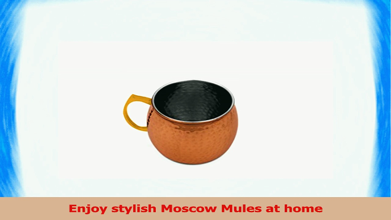 2 Pc Stylish Copper Moscow Mule Mugs Set  16 Oz Hammered Copper Mugs Moscow Mule Cup 3b3039a0