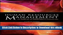 [Read Book] Human Resources Management for Public and Nonprofit Organizations: A Strategic