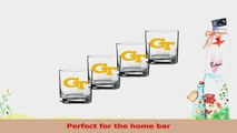 NCAA Georgia Tech Yellow Jackets Set of 4 Double Old Fashioned Glasses 14Ounce 31afcec7