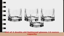 Luigi Bormioli Alfieri 12Ounce Double Old Fashioned Glasses Set of 4 9267a876