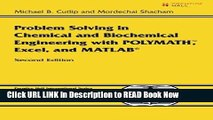 Download eBook Problem Solving in Chemical and Biochemical Engineering with POLYMATH, Excel, and