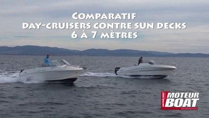 Teaser comparatif day-cruisers et sun decks 6-7 mètres