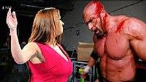WWE Triple H vs Stephanie McMahon | Triple H beat Stephanie McMahon