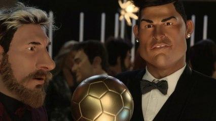 Schweppes ad : Ronaldo / Messi - The Guignols - CANAL+