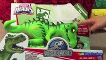 GIANT EGG SURPRISE OPENING Playskool Heros Marvel Super Heroes Toys Iron Hulk Tranformers Dinosaur