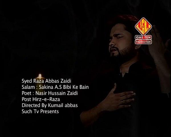 Sakina a.s Bibi Kay Bain Irfan | Soz-o-Salam | Syed Raza Abbas Zaidi
