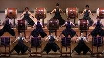 Un concert de tambours japonais (Senzoku Gakuen)
