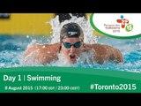 Day 1 | Swimming | Toronto 2015 Parapan American Games