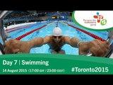 Day 7 | Swimming | Toronto 2015 Parapan American Games