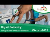 Day 4 | Swimming | Toronto 2015 Parapan American Games