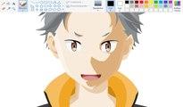 How I Draw using Mouse on Paint  - Natsuki Subaru Re-Zero - YouTube