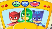 PJ Masks Wheels on the Bus go Round and Round Song for Toddlers Catboy Owlette Gekko PJMasks