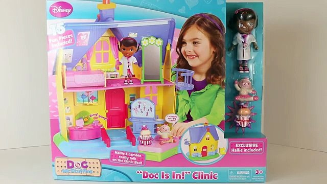 Doc McStuffins Doc Is In Clinic Hallie Lambie Disney Junior Doc McStuffins Toy House DisneyCarToys