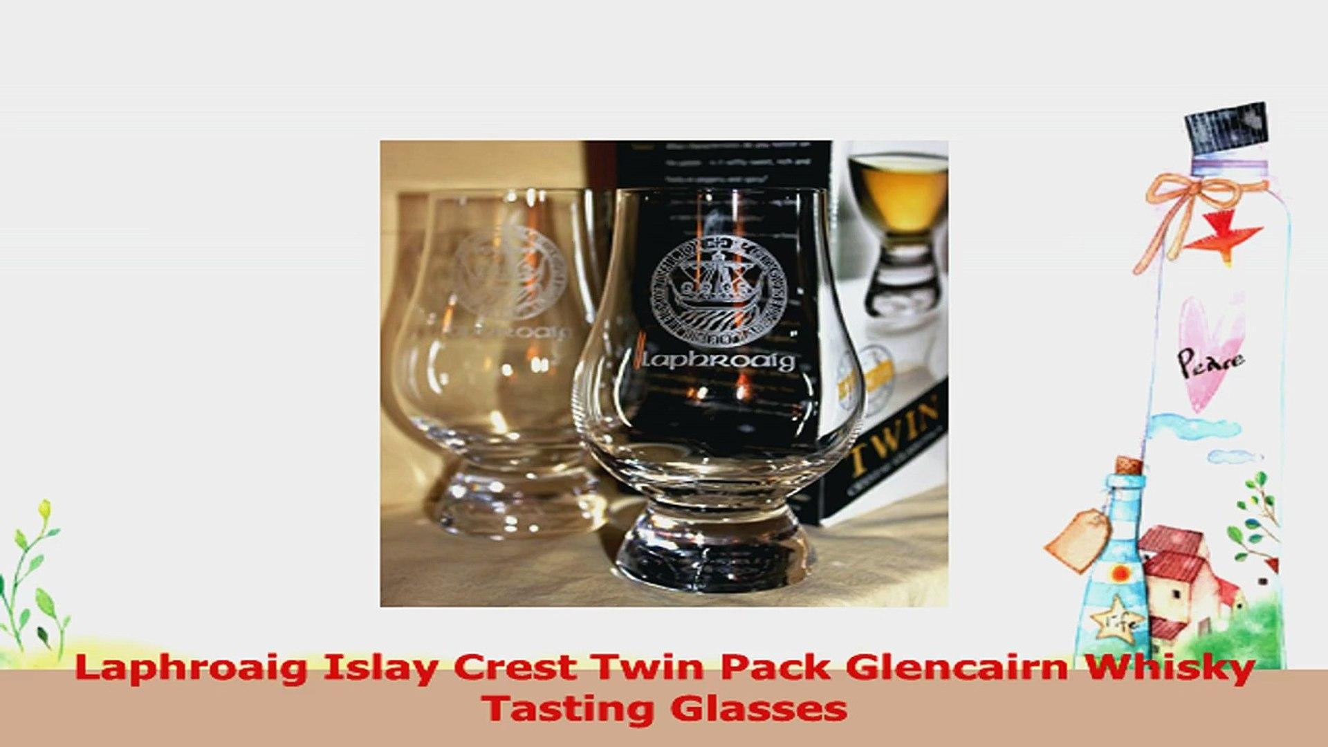 LAPHROAIG ISLAY CREST TWIN PACK GLENCAIRN SCOTCH WHISKY TASTING GLASSES