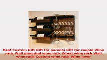 Best Custom Gift Gift for parents Gift for couple Wine rack Wall mounted wine rack Wood e7443a59