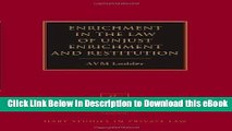 [Read Book] Enrichment in the Law of Unjust Enrichment and Restitution (Hart Studies in Private