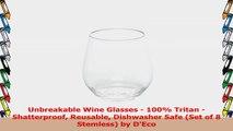 Unbreakable Wine Glasses  100 Tritan  Shatterproof Reusable Dishwasher Safe Set of 8 51702256
