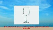BarLuxe Sonoma 95 Oz Unbreakable Tritan Stemmed Wine Set of 6 22b9e64b
