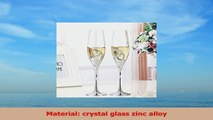 2 PCS  Set Crystal Wedding Toasting champagne flutes Glasses Cup Wedding Party marriage bd3266b5