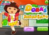 Dora the Explorer is preparing to go to school dress up Called Dora La Exploradora en Espagnol vC