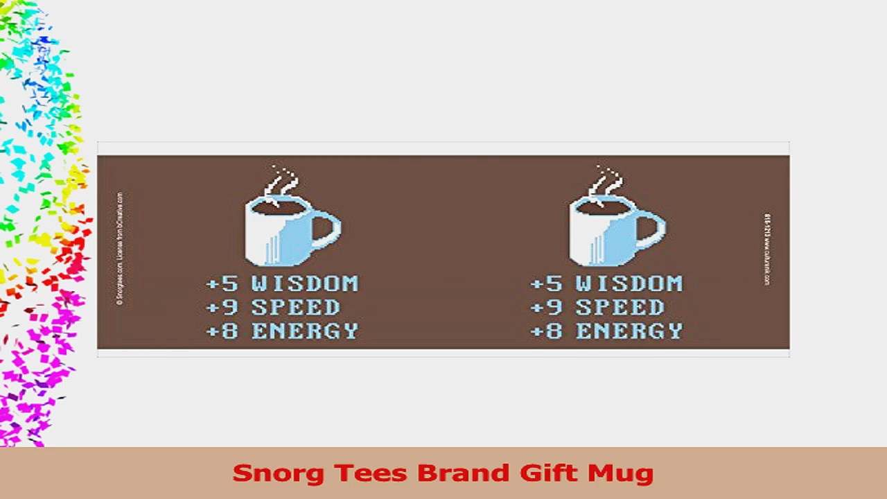 Snorg Tees Coffee Plus to Stats Novelty Lifestyle College Video Game Humor Ceramic Gift 964faf13