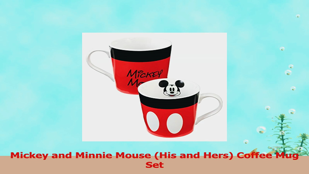 Mickey and Minnie Mouse Ceramic Coffee Mug Set ad6c3642