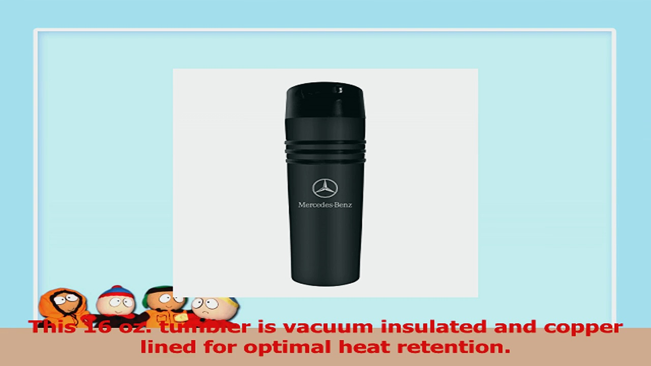 MercedesBenz Black 3 Ring Vacuum Insulated Tumbler Coffee Mug 668ef10f