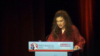 Discours de Anne-Sophie Pala-Massoni - Présidente de la Nouvelle Génération Jeunes Radicaux - 116e CONGRES - 04 février 2
