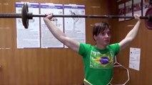 Уникальное упражнение из СССР Елена Гулько тяжелая атлетика