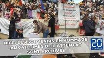 Nice: Les souvenirs en hommage aux victimes de l'attentat sont archivés