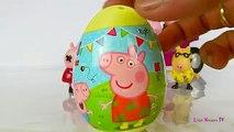 Peppa Pig Surprise Eggs - Play Doh Egg Surprises - Peppa Pig Toys