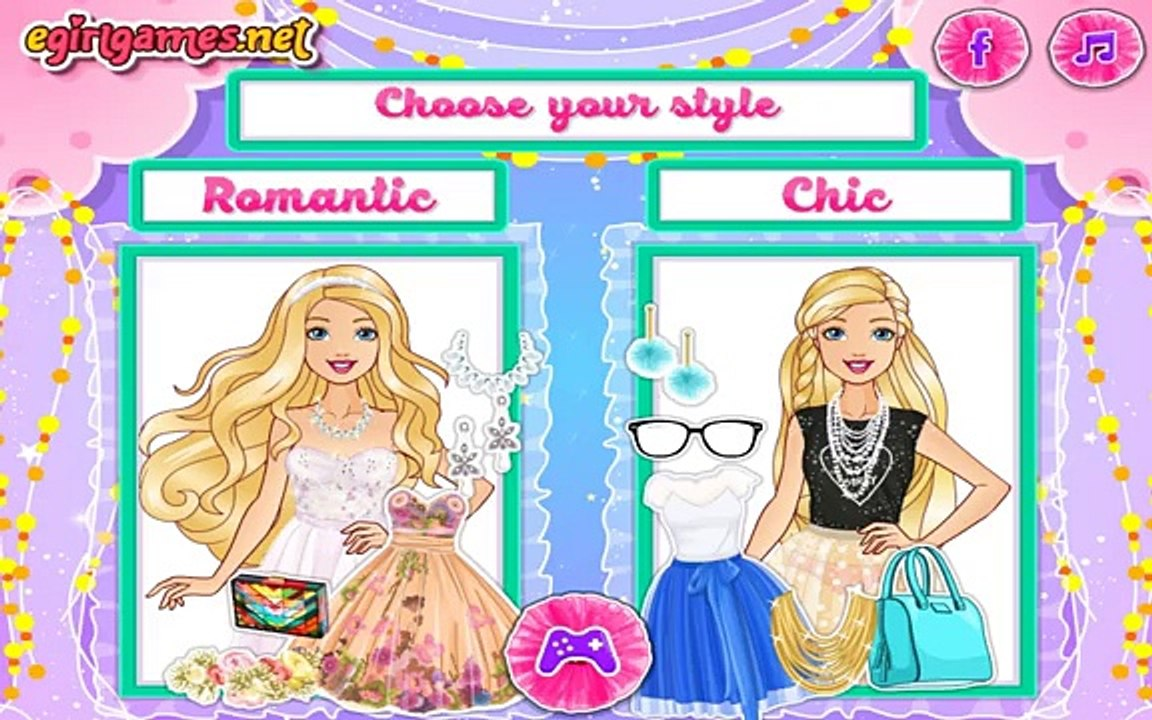 Barbie Pretty In Tulle Dresses Barbie Makeup Dress Up Game For Girls Video Dailymotion
