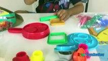 Играть doh костра Набор для пикника веселый пластилин игрушки для детей Райан ToysReview