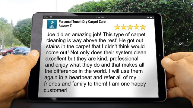 Personal Touch Dry Carpet Care GoodlettsvilleWonderful5 Star Review by -Lauren T.