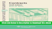 [Read Book] Examples   Explanations: Contracts, Sixth Edition Mobi