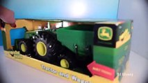 Play Doh Construction Pallets for John Deere Monster Tractor Collect Pallets on Farm