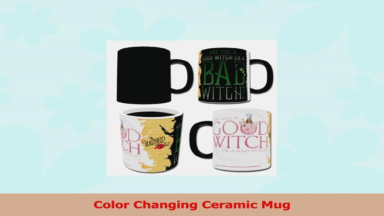 Morphing Mugs Wizard of Oz Good Witch Bad Witch Ceramic Mug Black f8547b31