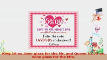 King Beer Queen Wine Glass 16 oz Pint Glass 1275 oz Wine Glass  Valentines Day Gift e19fb694