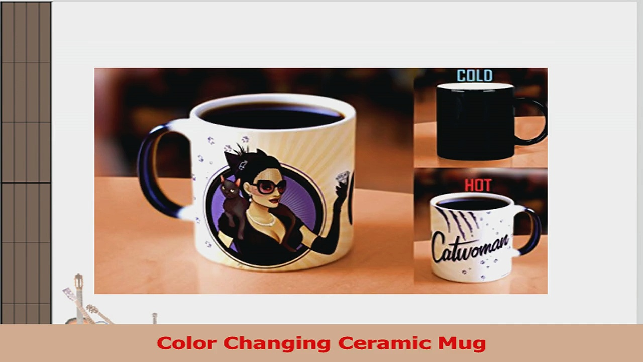 Morphing Mugs DC Comics Justice League Catwoman Bombshell Ceramic Mug Black 48b4fe84