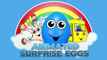 Surprise Eggs Animation! Trucks for Kids | Counting Construction Vehicles | Learn to Count