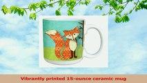 TreeFree Greetings 46135 Paul Brent Whimsical Fox Ceramic Mug with FullSized Handle d13d53e0