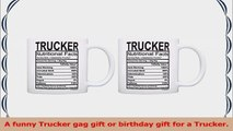 Truck Driver Accessories Trucker Nutritional Facts Label 2 Pack Gift Coffee Mugs Tea Cups 537b9137