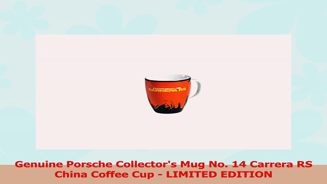 Genuine Porsche Collectors Mug No 14 Carrera RS China Coffee Cup  LIMITED EDITION d9f14cd8