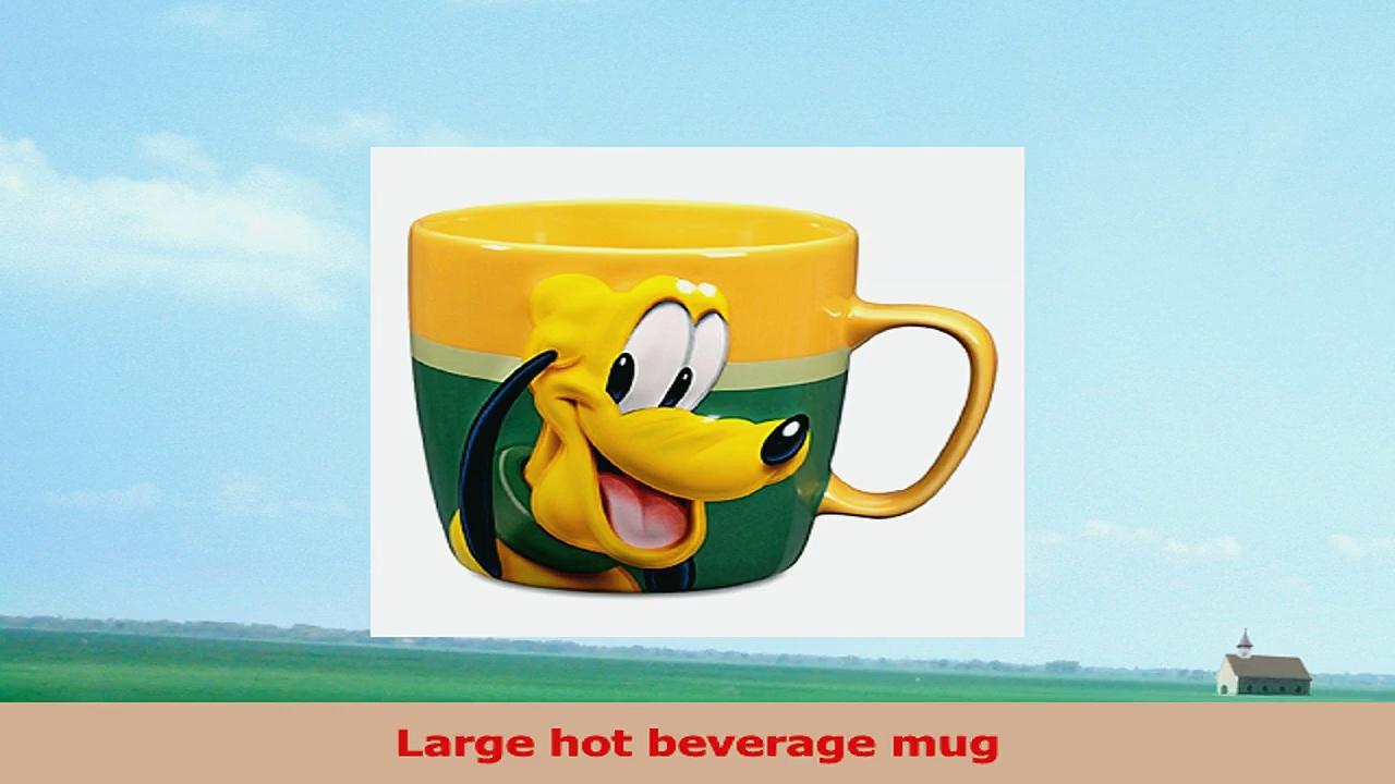 Disney Store Pluto Coffee Mug Cup Bright Gold Green 491466ed